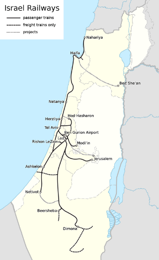 "Quelle: Wikipedia ""Israel Railways"""